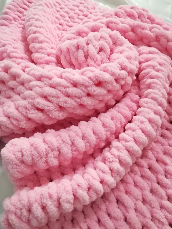 Плед теплый из плюшевой пряжи, детский плед для девочки, плед для новорожденного