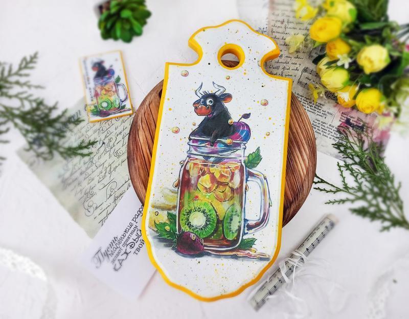"Доска разделочная ""Фердинанд"" символ года"