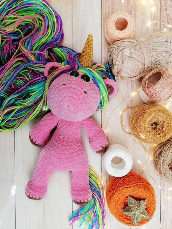 Плюшевый единорог, мягкая игрушка единорог с радужной гривой, подарок для девочки