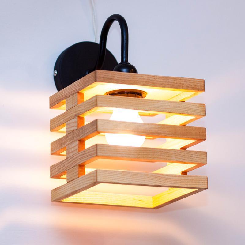 Дизайнерские деревянные светильники Бра Дуб Ясен AF-103
