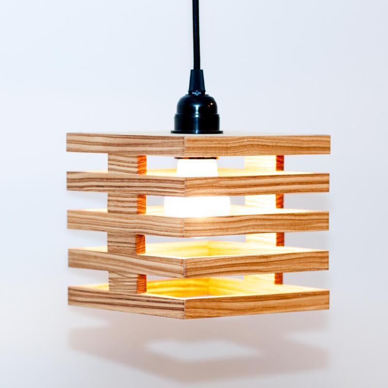 Подвесные деревянные светильники Люстра Дуб Ясен AF-101
