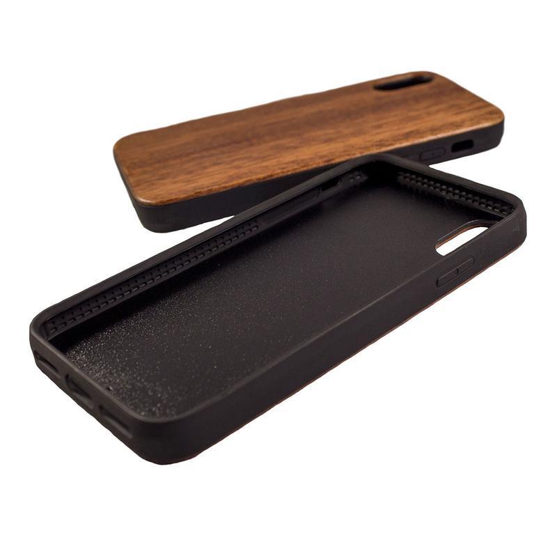 Деревянный чехол для IPhone X с гравировкой