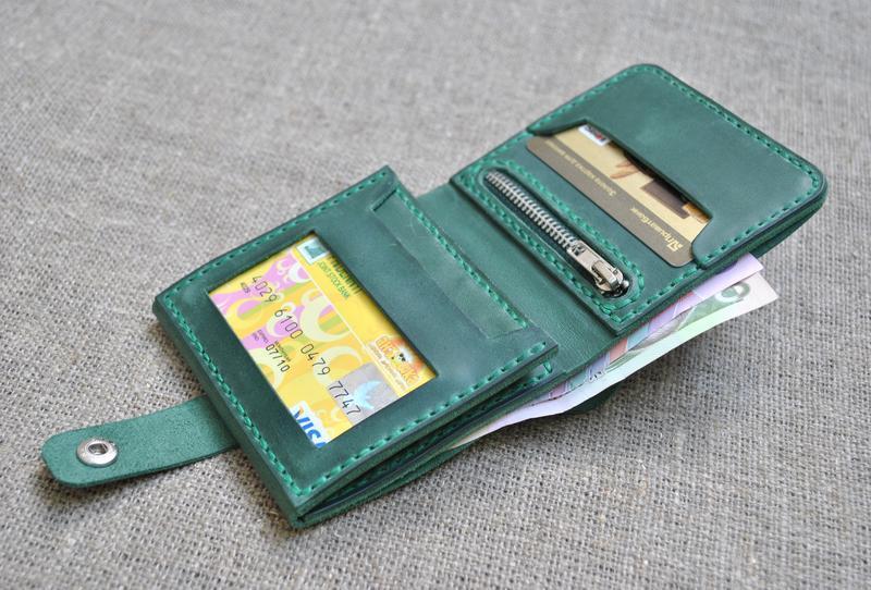 Небольшой кожаный кошелек K02-350