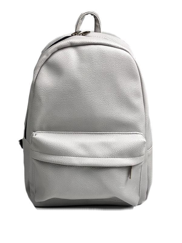 Рюкзак женский городской средний спортивный из экокожи непромокаемый серый