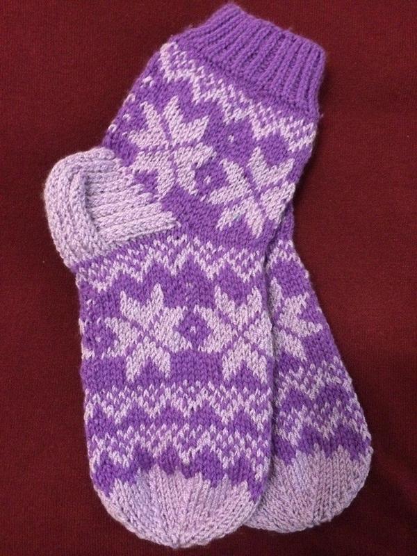 Носки шерстяные, связанные вручную.Носки шерстяные