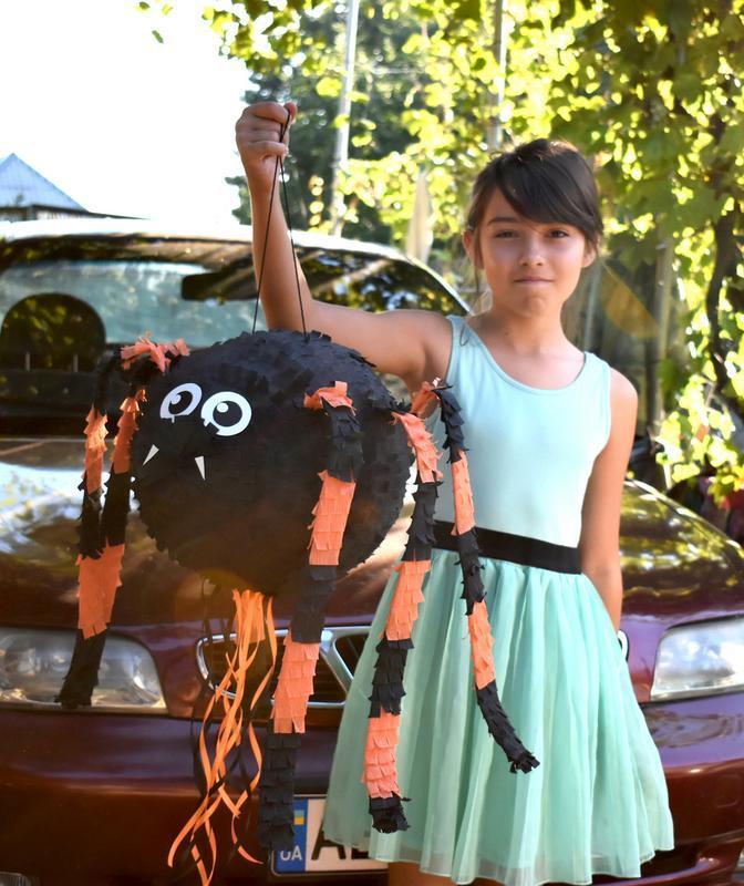 Пиньята Черный Паук, Черный Паук, Хэллоуин, Вечеринка на Хэллоуин, Большая Пиньята №714764 - купить в Украине на Crafta.ua