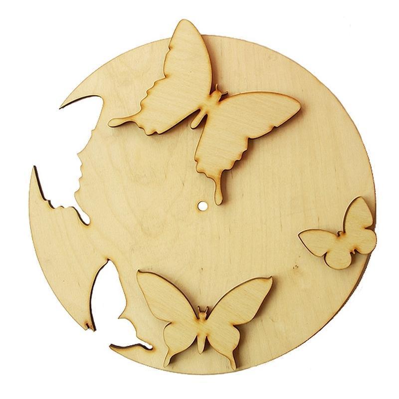 Основа для часов Бабочки 30 см (фанера)