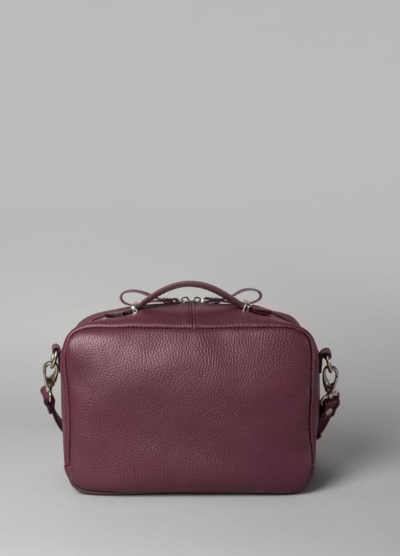 Женская кожаная сумка Avenue бордовая флотар