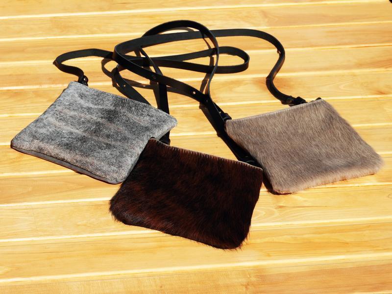 Небольшая женская сумка из шкуры коровы и кожи, Кожаный клатч, Кошелек для женщин, Косметичка