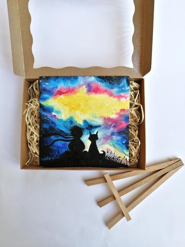 Картина маслом маленький принц, Подарочный набор с картиной, Картина на подарок