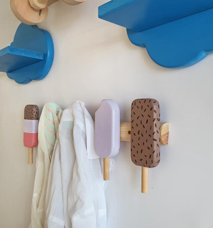 """Вішак для одягу дитячий """"морозиво"""" Вешалка для одежды """"мороженое"""""""