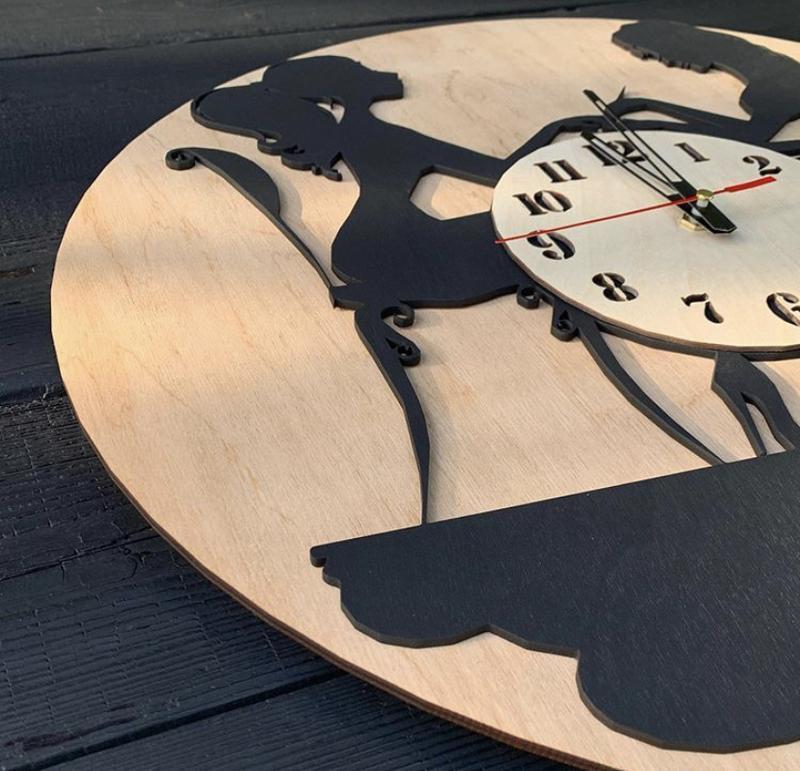 Настенные часы из дерева 40 см
