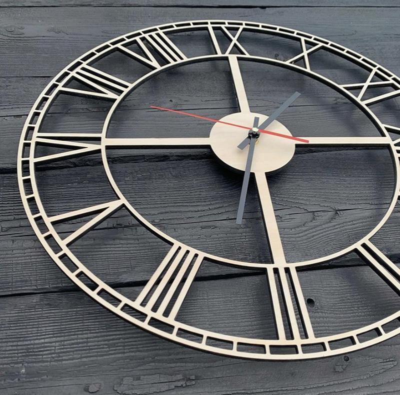 Настінні годинники з дерева 40 см