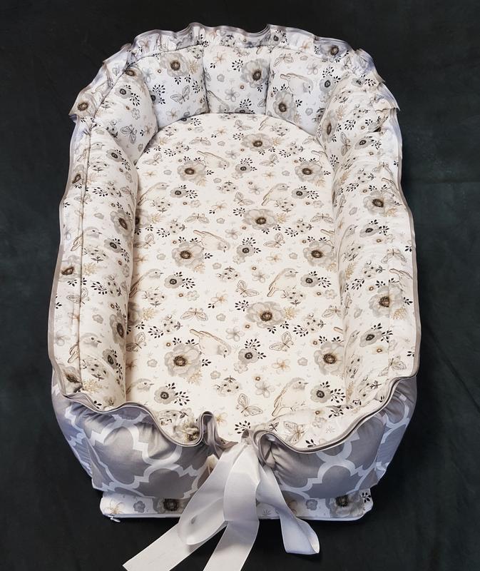 Птички Кокон-гнездышко для новорожденных 0-18 мес. Kuzya Production