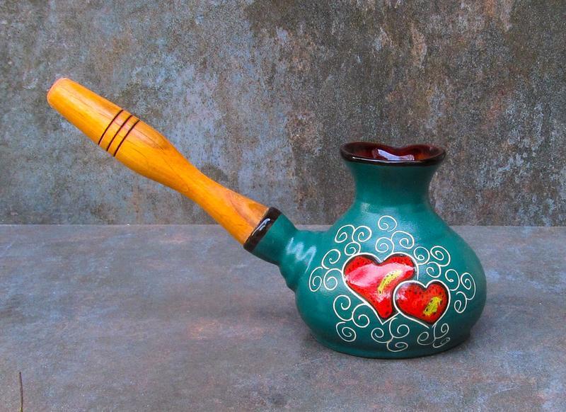 Турка мала декор Серце зелена