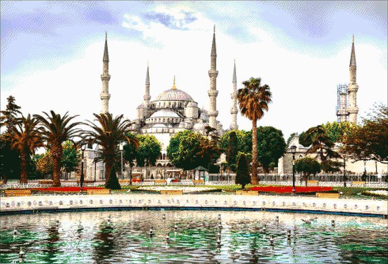 """Набор для вышивки бисером """"Голубая мечеть"""""""