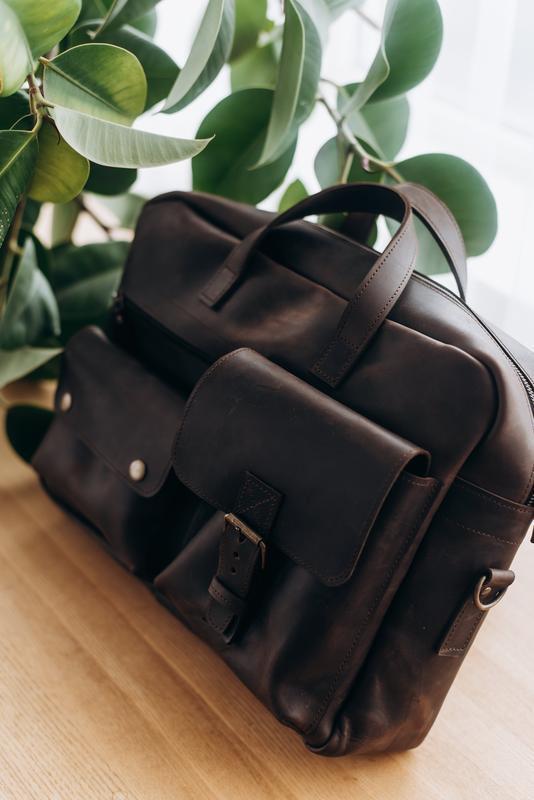 Мужская кожаная сумка | Кожаная мужская сумка для документов