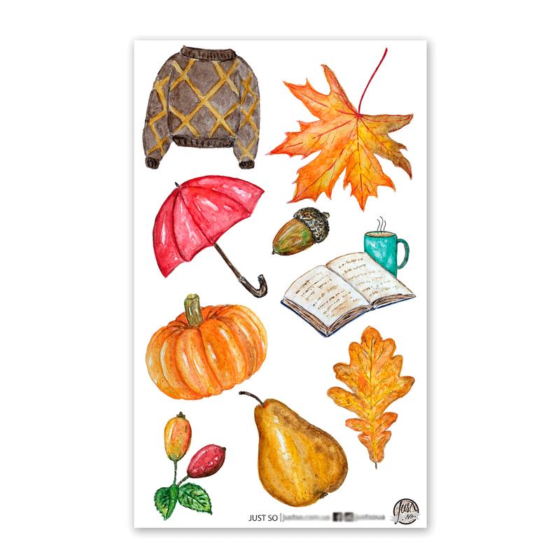 Набор виниловых наклеек «Осень»
