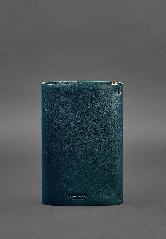 Кожаный блокнот софт-бук 7.0 зеленый