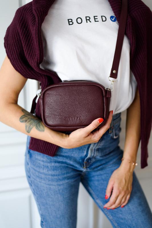 Маленькая сумочка, сумочка через плечо, кожаная сумочка круглой формы для девушки