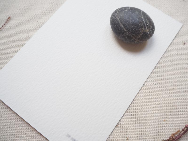 Открытка на акварельной бумаге