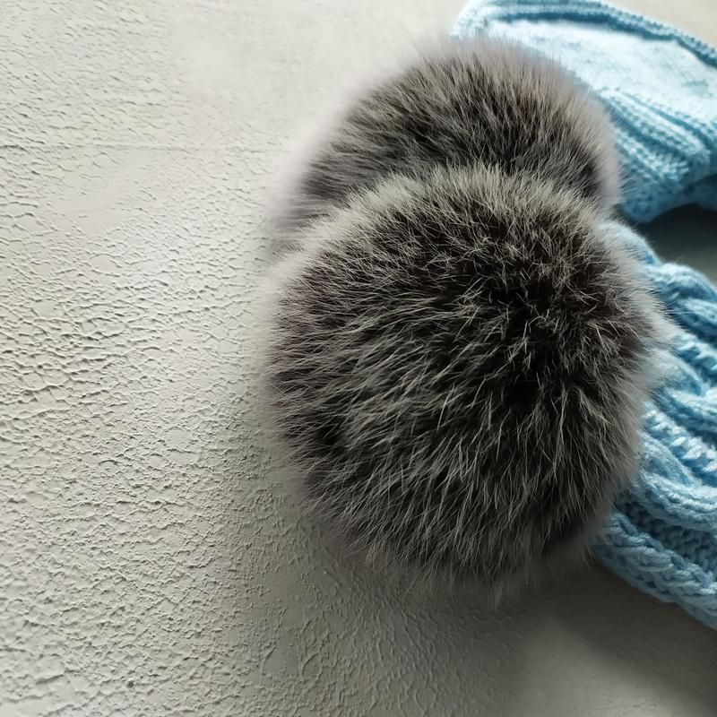 Вязаная шапка, детский комплект шапка манишка