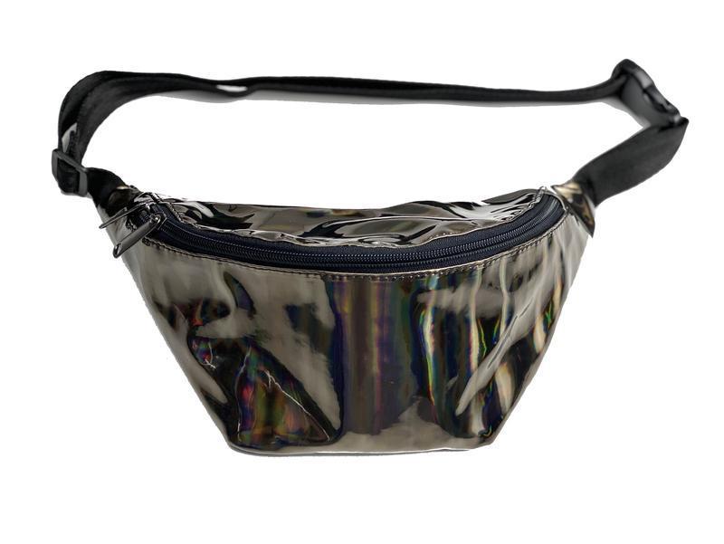 Поясная сумка женская городская из экокожи черная