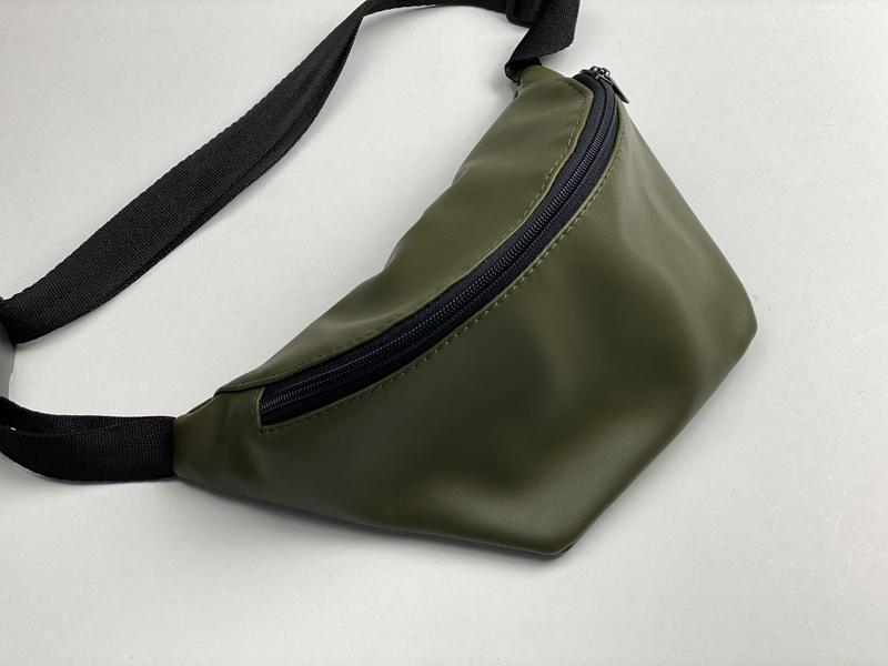 Поясная сумка женская городская из экокожи хаки