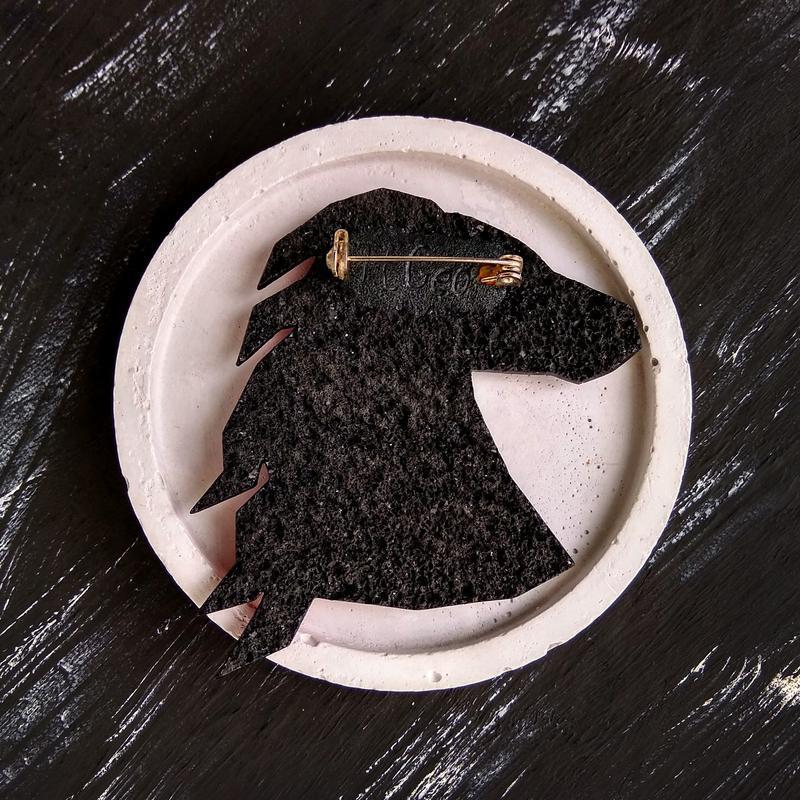 Геометрическая брошь Конь ручной работы в любом цвете. Оригинальное полигональная украшение Лошадь