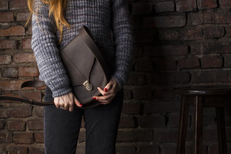 Модная сумка через плечо для женщин, полукруглая сумка-седло из натуральной кожи