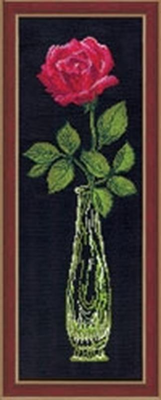 Вышивка красные цветы на черном фоне 100