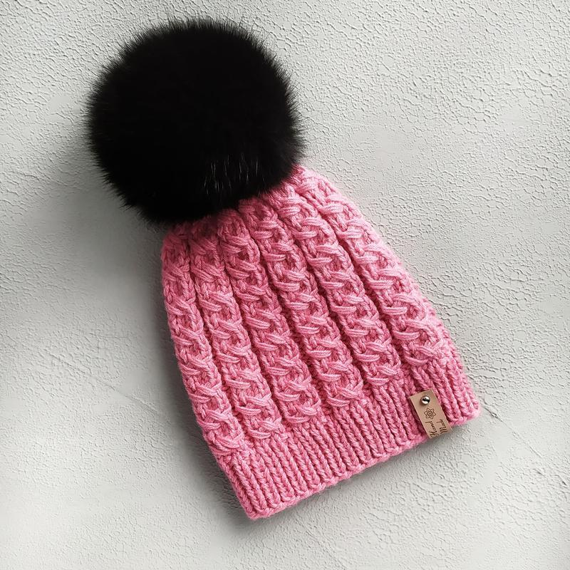 Шапка, детская шапка с помпоном