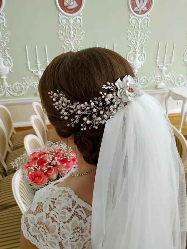 Веточка в прическу, украшение для волос, весільна прикраса для волосся