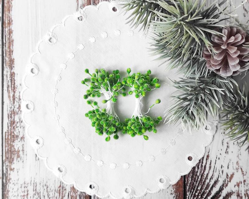 Тычинки сахарные салатовые 50 (100) шт