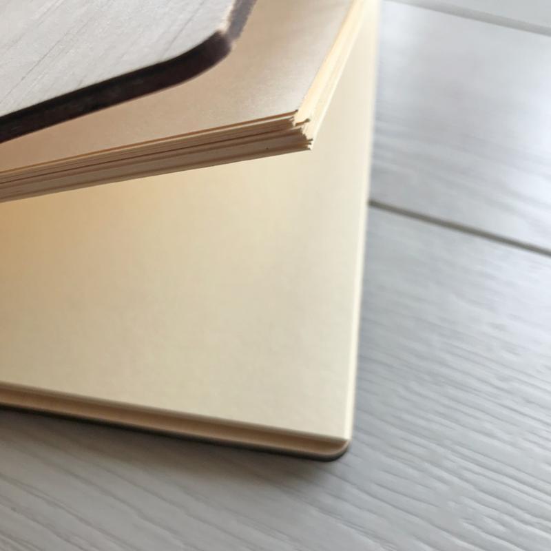 Кулінарна книга в дерев'яній обкладинці на спіралі «Let's cook»