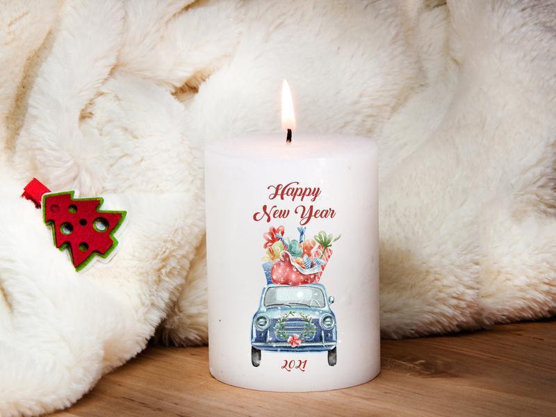 Свеча для интерьера новогодняя, парафин
