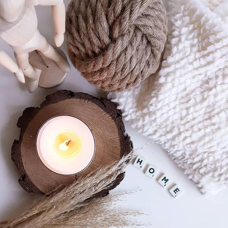 Соевая ароматическая свеча с деревянным фитилем