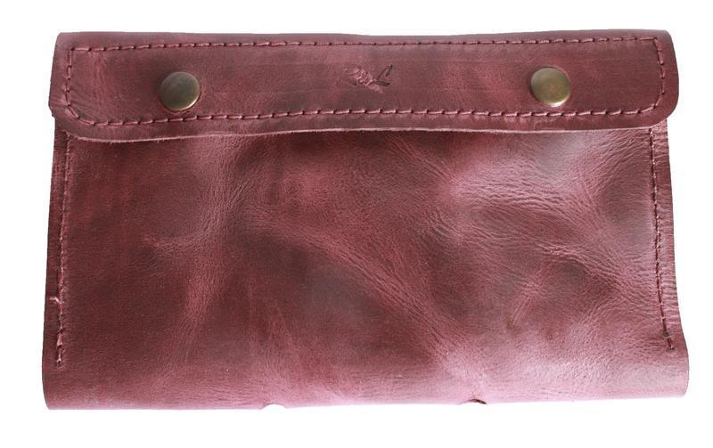 Бумажник для путешествий бордового цвета х2 (10 цветов)