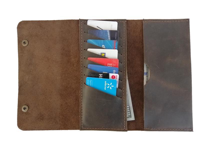 Жіночий коричневий гаманець х4 (10 кольорів)
