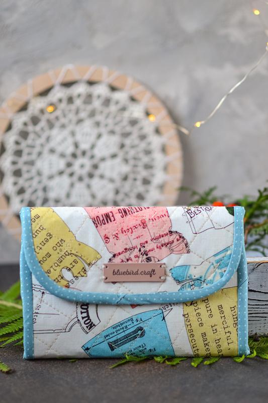 Текстильный органайзер для хранения игл Швейный