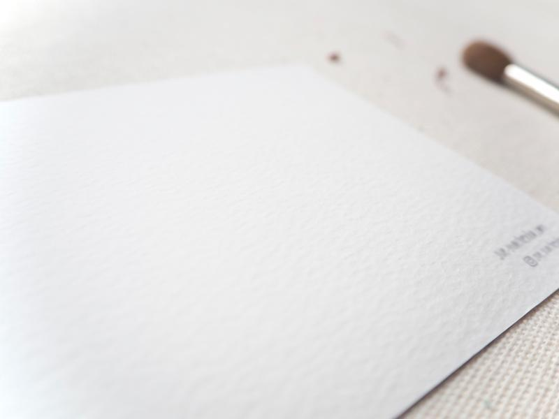 Открытка на акварельной бумаге (печать)