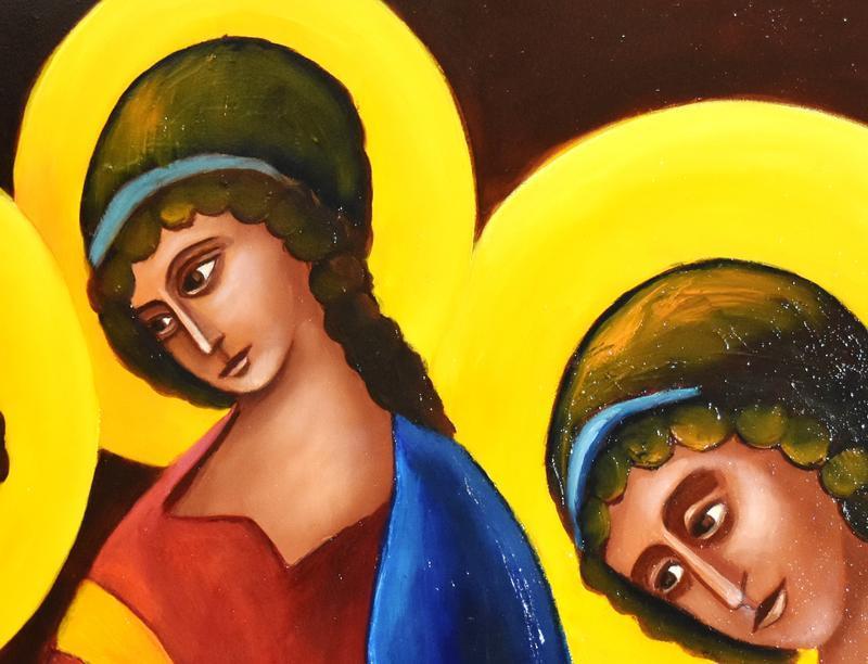 Святая троица,живопись,размер 40х60см