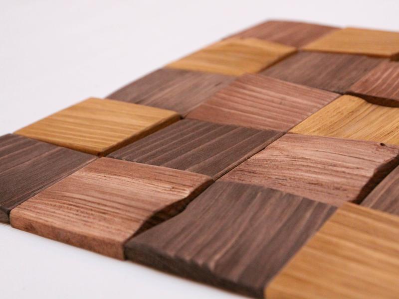 Деревянная плитка Мозаика Стеновые Панели AF-203