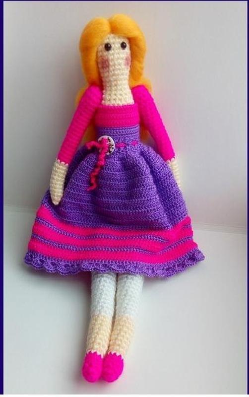 вязаная кукла тильда ручной работы купить в украине 90135