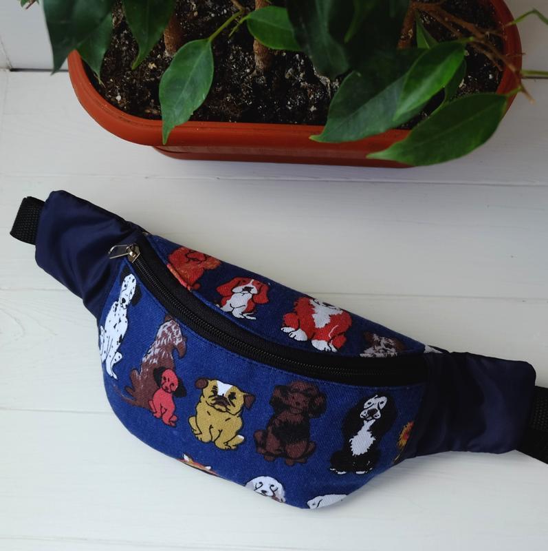 Сумка-бананка с собаками, барсетка, поясная сумка унисекс 54