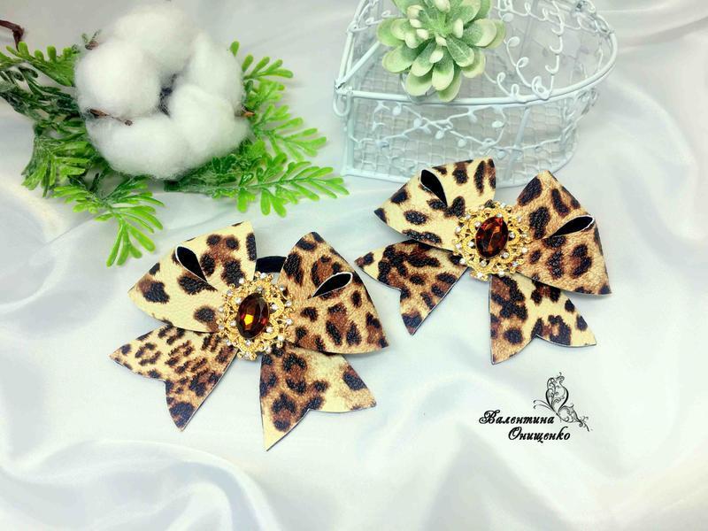 Леопардовые бантики