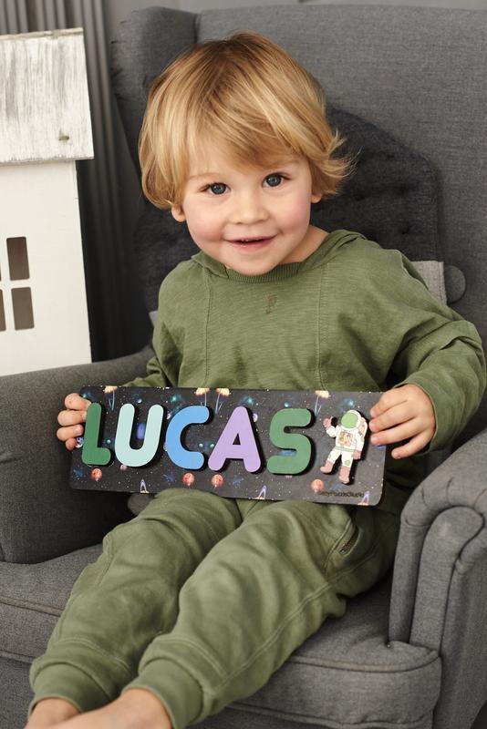 Деревянный пазл-сортер для детей - Развивающие элементы для детей - Декор для детской космос