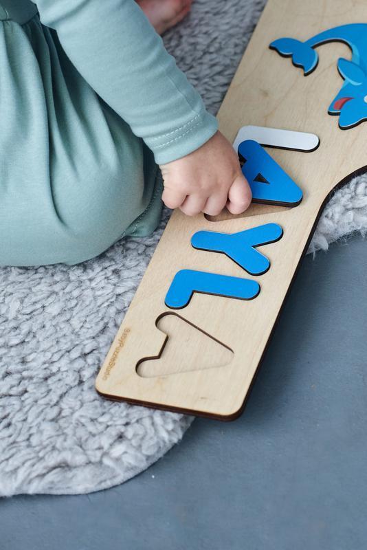 Уникальные подарки для девочки, деревянные детские игрушки, декор для детской, именной пазл