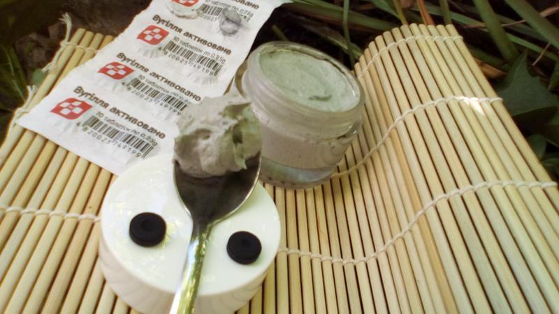 Скраб для лица,рук,шеи, зоны декольте с активированным углем и белой глиной