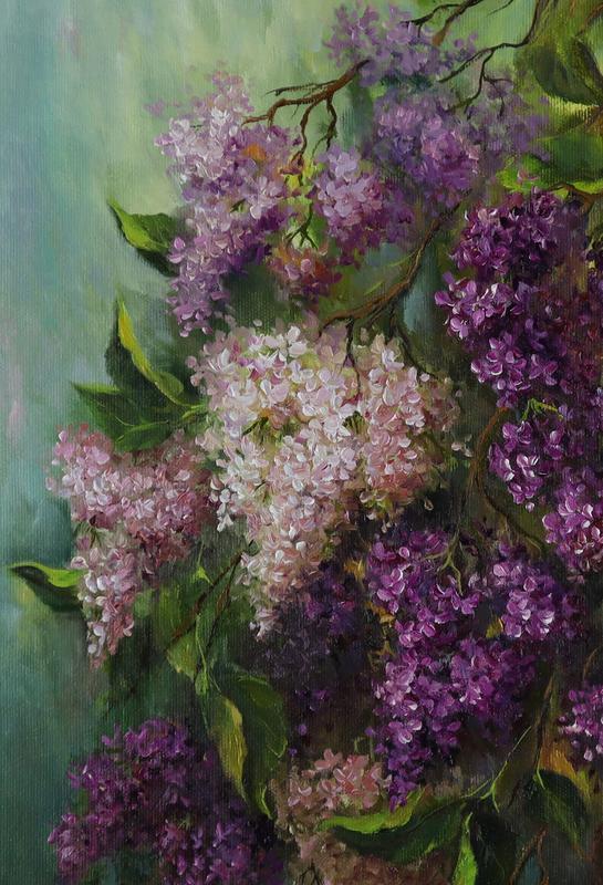 """Картина маслом """"Весеннее настроение"""" 45х30 см, холст на подрамнике, масло"""
